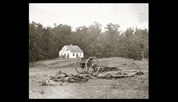 Confederate dead at the Dunker Church, Antietam