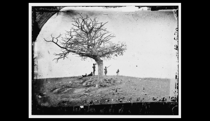 """A lone grave on battlefield of Antietam"""